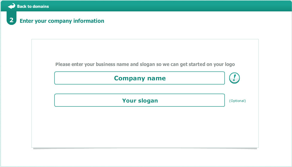 Enter your company name and slogan