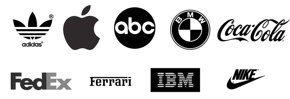 Marca de design de logotipo Preto e branco, logotipo da Nike